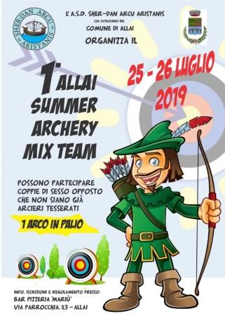 1° ALLAI SUMMER ARCHERY MIX TEAM DEL 25 E 26 LUGLIO 2019